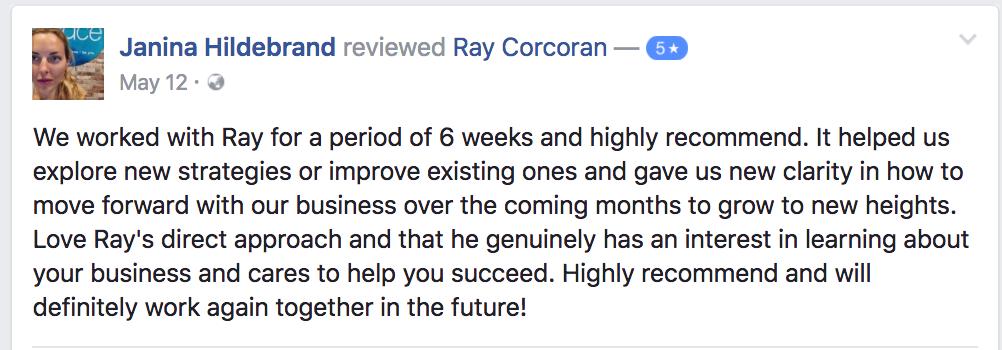 ray-corcoran-review-testimonial-janina-hildebrand
