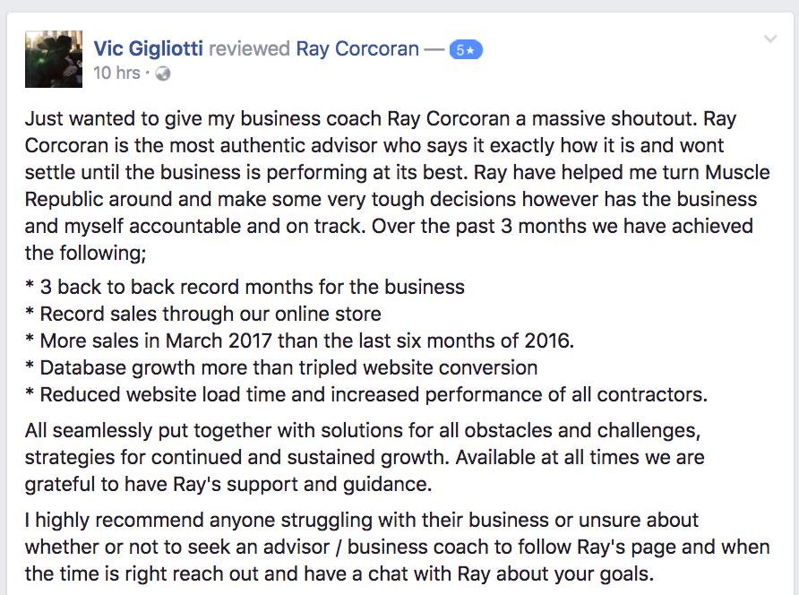 vic g ray corcoran review testimonial 5 star