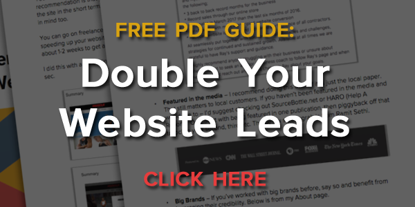 Double Website Lead Generation Ray Corcoran Guide